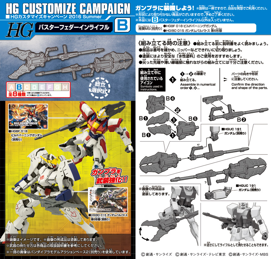Bandai Gundam Customize Campaign parts_b
